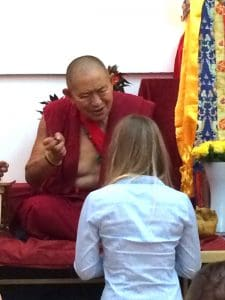 Daria with HE Garchen Rinpoche