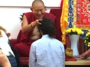 Sergio with HE Garchen Rinpoche