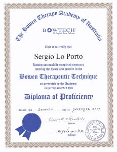 Bowen Technique Certific ate